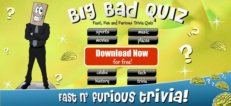 Big Bad Quiz is free to download on Google Play and the App Store