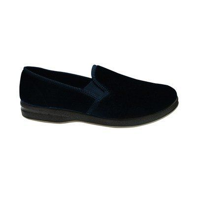 Men's Foamtread Slipper Size / Color: 12 / Navy Silvert's. $35.99. 0511100114 Size / Color: 12 / Navy Pictured in Navy Features: -Slipper.-Comfortable double gussets.-Skid-resistant soles can help prevent elderly falls.-Machine washable for convenience. Options: -Available in several sizes and colors.