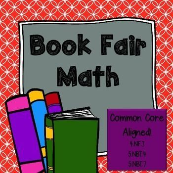 Book Fair Math Freebie:  Your 4th & 5th grade students will have fun previewing upcoming Book Fair selections while practicing their mathematics!