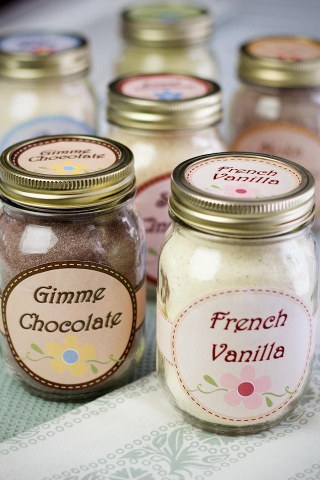 Naturally sweetened Flavored Whey Protein Powder - chocolate, chai, green tea, French vanilla, mocha, and cinnamon flavors.