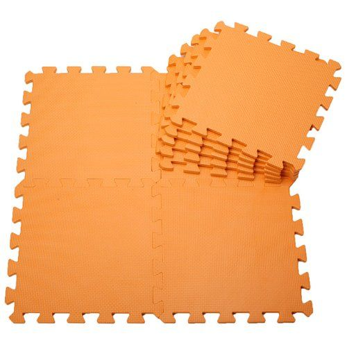 Pure Colour Kids Soft Flooring Puzzle Mats for Children Jigsaw Mat EVA Foam Play Mat - Orange (9pcs): Amazon.co.uk: Toys & Games