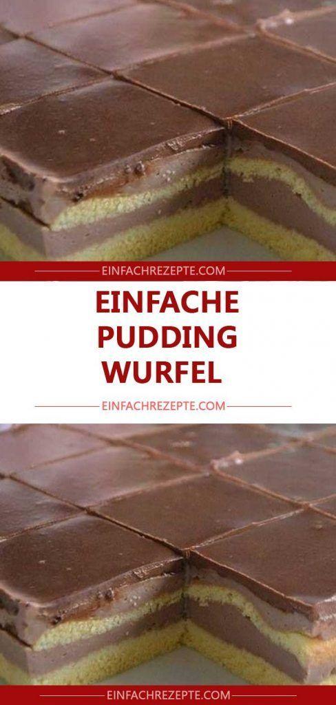 Einfache pudding wurfel 😍 😍 😍