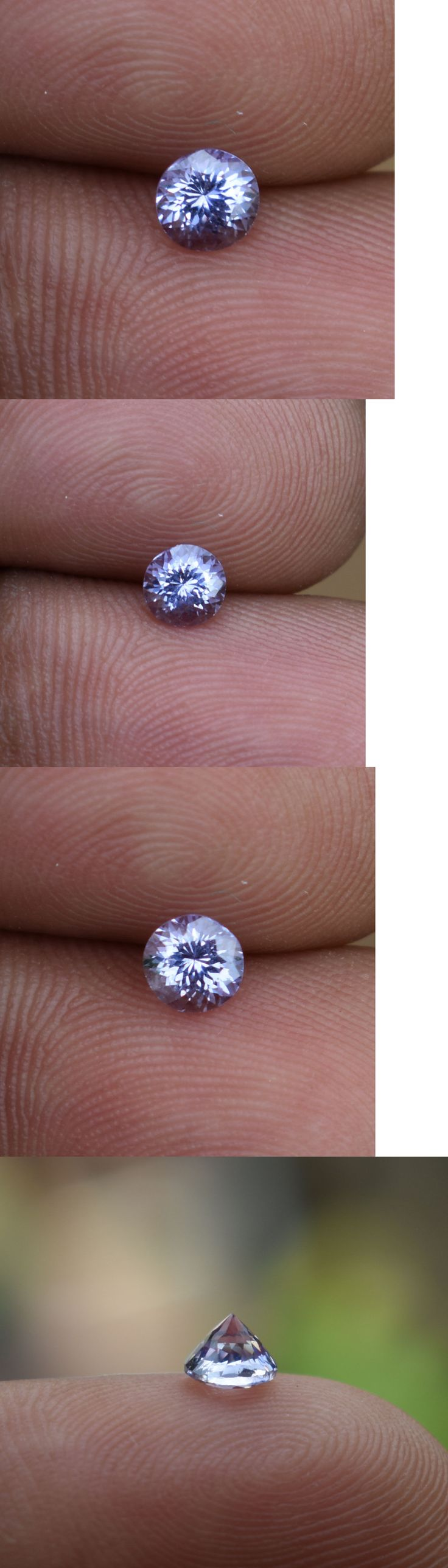 Natural Sapphires 4644: 0.43Ct Loose Natural Unheated Purple Sapphire Sri Lanka Round Portuguese Cut Vvs -> BUY IT NOW ONLY: $35 on eBay!