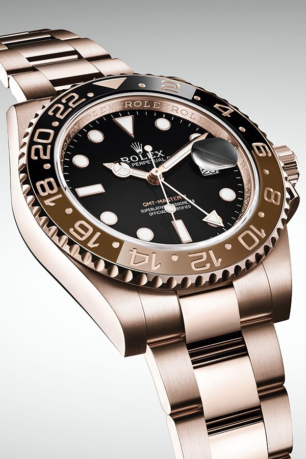 3a55a7bd278 The new Rolex GMT-Master II in 18ct Everose gold with a 24-hour rotatable  brown and black Cerachrom bezel insert