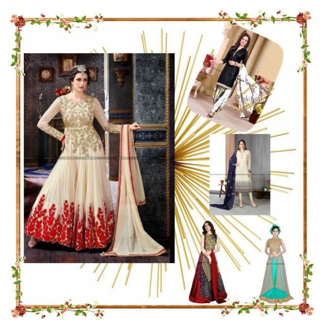 """Buy online designer anarkali salwar kameez  casual salwar kameez"" by parisworld-surat on Polyvore"