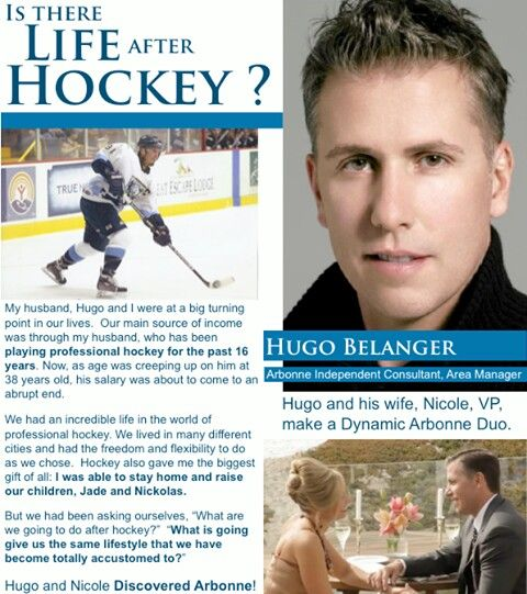 Chicago Blackhawk Hugo Belanger! Now Arbonne Independent Consultant, Area Manager. It's all about the Opportunity! Don't miss it.   http://jennywatson.arbonne.com/