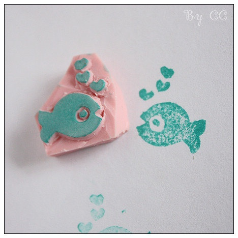 Fish with heart bubbles