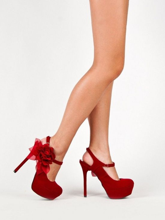 Special occasion shoes 2013 / cheap high heels platform pumps in red with bow 2013 |Red Heels|