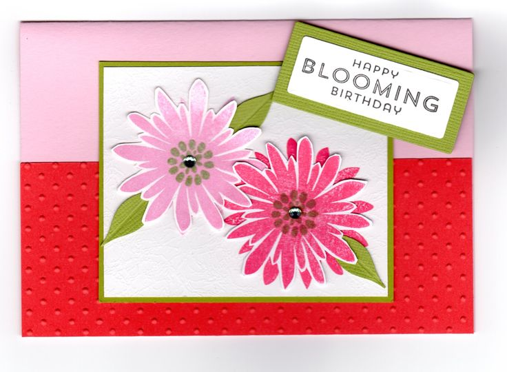 Handmade card - Flower Patch stamps by Stampin' Up.