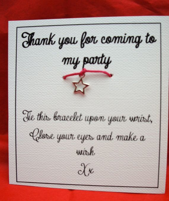 Thank You For Coming To My Party Favour/Gift by ConfettiLaceEvents, £1.50  The perfect present instead of a boring goody bag.