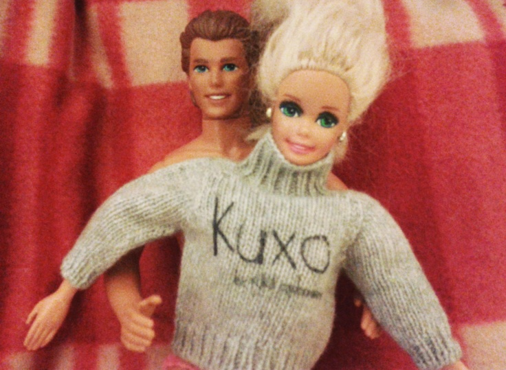 Barbie in Kuxo' sweater www.kuxo.it
