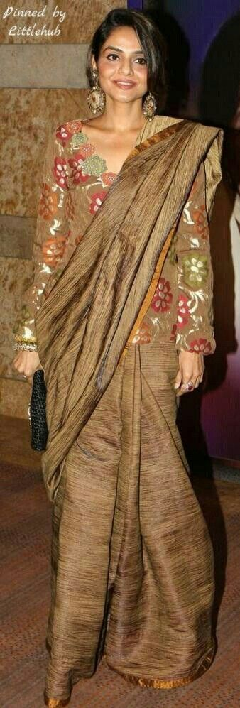 Gold Saree.