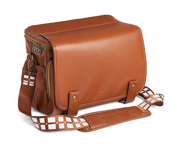 A camera bag with Chewbacca's signature belt as a strap.