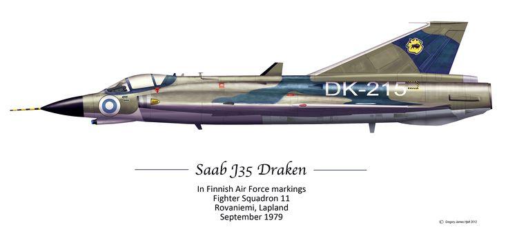 Saab J35 Draken - Finnish Air Force.