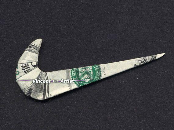 Dollar Origami NIKE SWOOSH LOGO