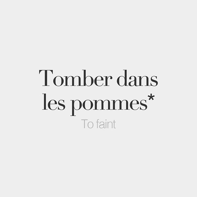 *Literal meaning: To fall in the apples.  Introducing a new weekly rendez-vous on @frenchwords: idioms. French has a large collection of sayings that offer sage life advice while transmitting the underlying ideas, principles and values of French culture and society.