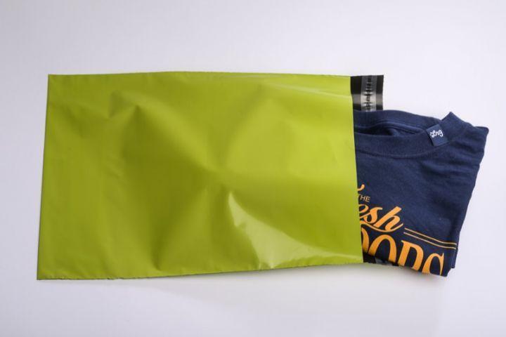 Farbige Versandtaschen (Versandbeutel) Neon-Grün Größe S - folienmailer Versandtaschen aus Kunststoff