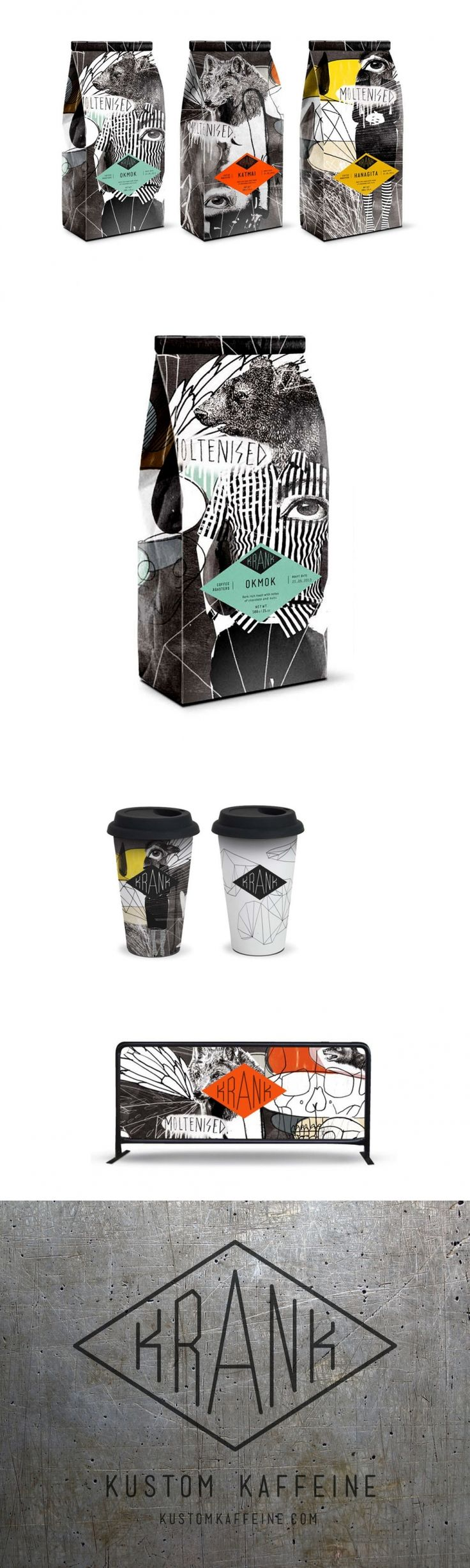 Get Your Caffeine Fix With These Collage-Style Coffee Bags — The Dieline | Packaging & Branding Design & Innovation News
