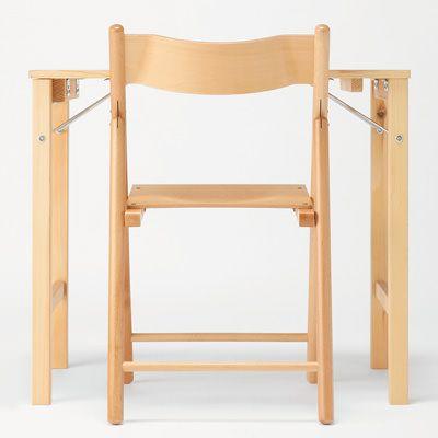 パイン材テーブル・折りたたみ式 幅80×奥行50×高さ70cm.   無印良品ネットストア