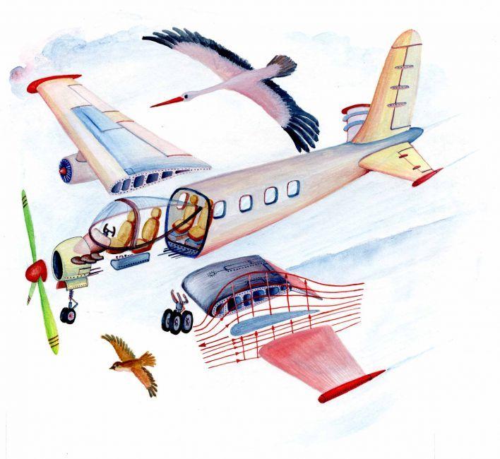 Martin Mrva - Prečo lietadlo letí | ASIL - Asociácia ilustrátorov, o.z.