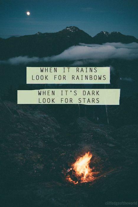 Cuando llueva busca el arco iris, cuando sea de noche busca las estrellas..... | LOS 40 SON NUESTROS | Scoop.it