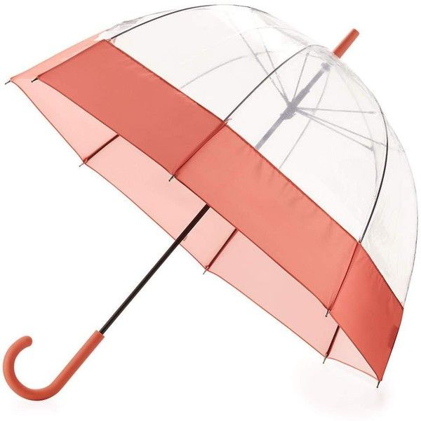 Hunter Boot Original Moustache Bubble Umbrella (415 CNY) ❤ liked on Polyvore featuring accessories, umbrellas, sunset, transparent bubble umbrella, bubble umbrella, see through umbrella, orange umbrella and transparent umbrella