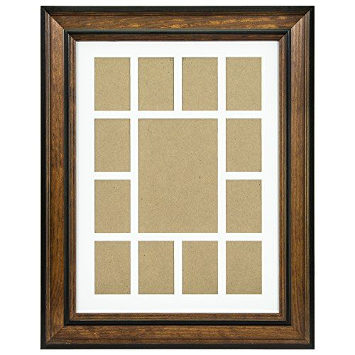Craig Frames 80827011 12 by 16Inch Brown Picture Frame Single White Collage Mat with 13 Openings *** Check this awesome product by going to the link at the image.