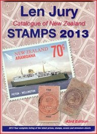 Latest N.Z.  Len Jury Stamp Catalogue 2013 - Available now from Kiwialan
