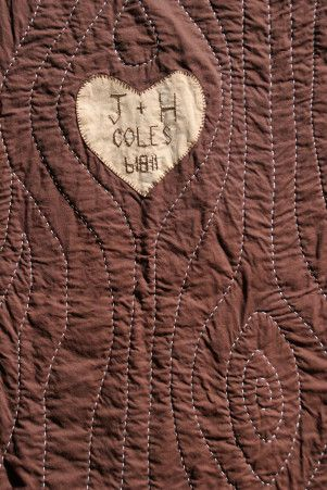 tree quilt - wood grain quilting. Be a super cute wedding gift