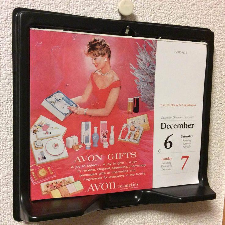 December 6/7 : Avon 1959 選ぶ楽しみ、贈る楽しみ、頂く楽しみ。エイボンの化粧品や香水のギフトセット。なんとなく昭和な香りのするパッケージですね。