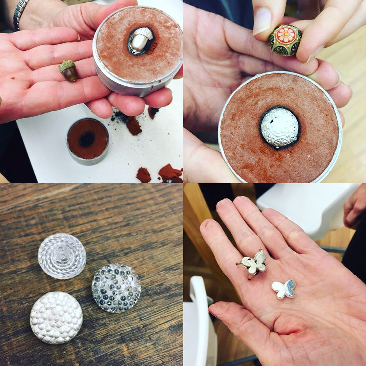 Sand casting Experiments in our Silver Jewellery classes @ Amy Surman The Oxford Bead Shop