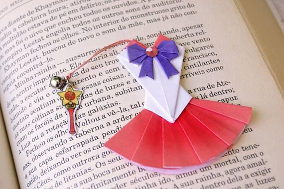 Sailor Moon origami bookmark Paper