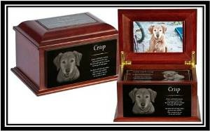 Beautiful urn customized with your pets photo engraved on marble. Memorial trays can be engraved with a personalized poem or photo. Design a one of a kind pet memorial for the one who gave so much but asked for so little.
