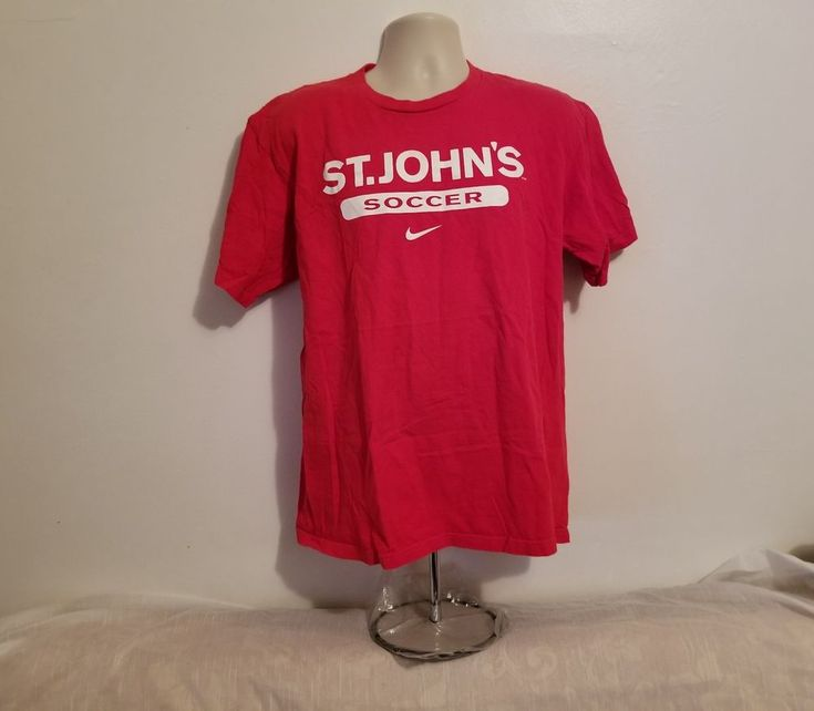 St John's University Soccer Adult Medium Red T-Shirt #Nike