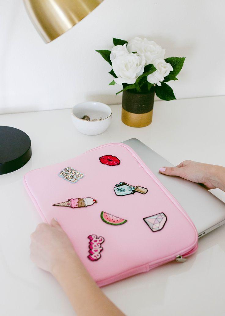 DIY Patch Laptop Case