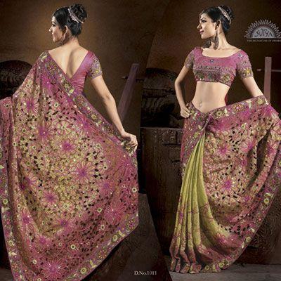 interesting saree