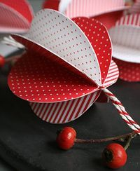 Christmas Ball in Red and White