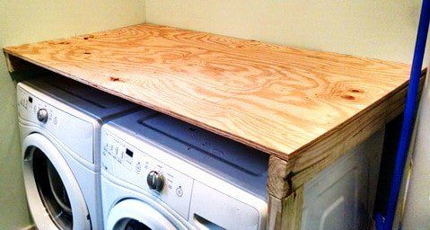 DIY Laundry Room Countertop Over Washer Dryer | Laundry ...