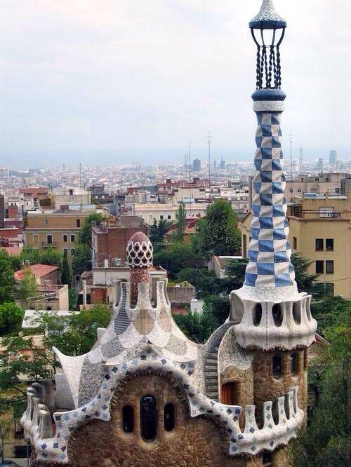Парк Гуэля, А. Гауди, Барселона, Испания. Арх. стиль: модерн