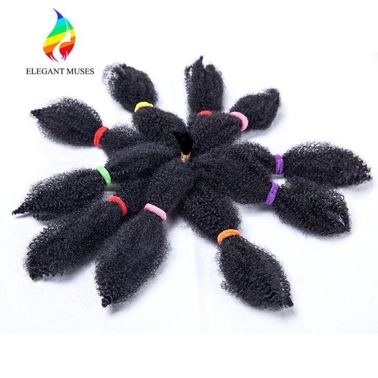10 Inches Natuurlijke Zwarte Afro Kinky Krullend Braid Synthetische Haarverlenging Synthetische Marely Vlechten Haar Weven