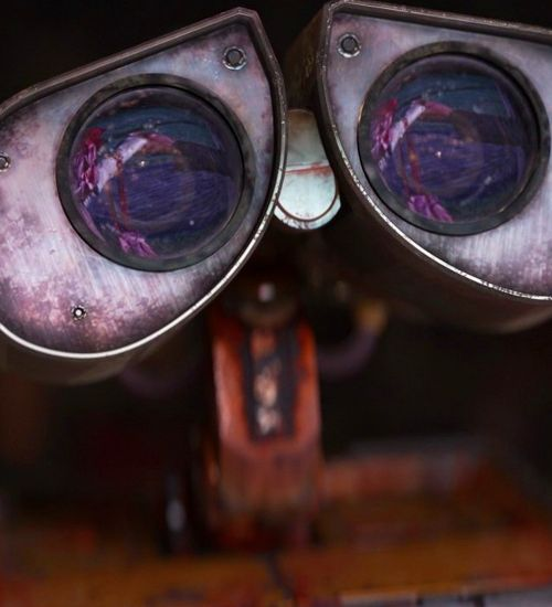 Such intensity in Wall•E's eyes. Could see this on canvas with a quote along the bottom for a boys room.