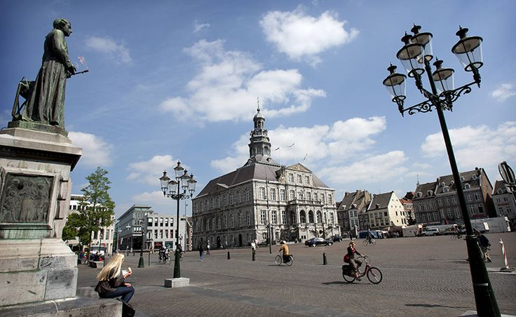 Market square in Maastricht, Netherlands