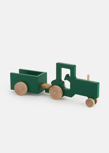 Wooden Tractor and Trailer Push Toy   Rodale's