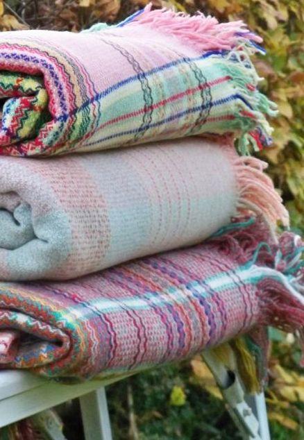 pink cosy tartan blankets