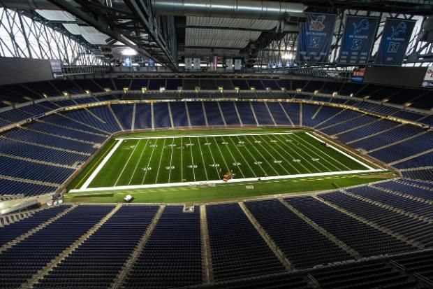 A time-lapse look at Ford Field's FieldTurf installation