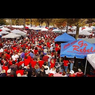 The Grove, ground zero for all the tailgaters of Ole Miss; they congregate here to cook food, cheer, and prepare for the beat-down that they hope Ole Miss will put on their opponent. The Grove is full to capacity before every game at Ole Miss with students, parents, fraternities, and sororities all ready to show their school spirit and support.