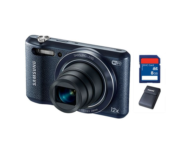 Samsung WB-35F Smart Camera. Share your best photos instantly with Family and Friends with Built-in Wi-Fi with NFC smart features, you can instantly upload your photo to social media, e-mail, and also free soft case and memory card. http://zocko.it/LE1je