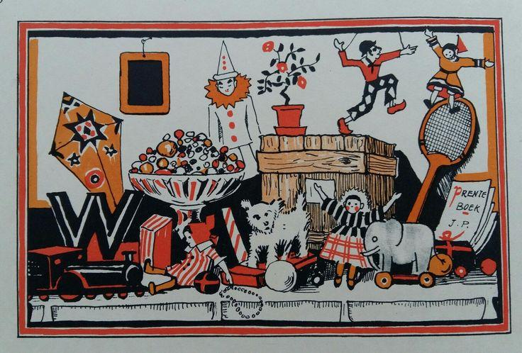 Sinterklaastafel met lekkernijen en cadeaus