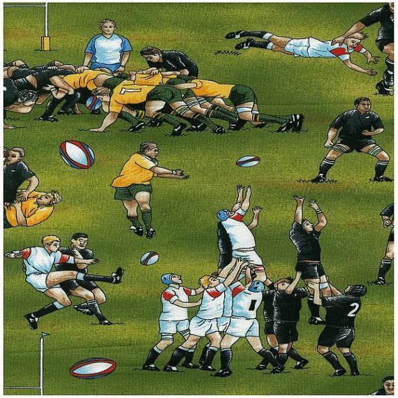 1 yard Rugby Sport Team Fabric