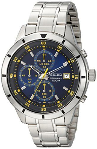 Seiko Mens Quartz Stainless Steel Casual Watch ColorSilverToned Model SKS575 *** Read more reviews of the product by visiting the link on the image. (This is an affiliate link and I receive a commission for the sales)